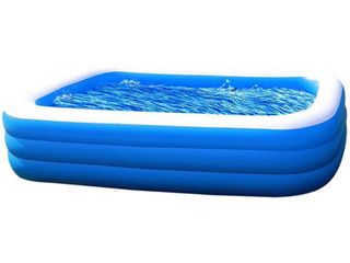 Amy   Delle Inflatable Kiddie Swimming Pool   Blow Up Family lounge Above Ground Swim Center large Size 120  x 72  x 22  Perfect for Summer Outdoor Backyard Porch Garden Water Party Ages 3