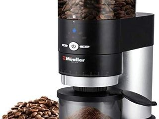 Mueller Ultra Grind Conical Burr Grinder Professional Series  Innovative Detachable PowderBlock Grinding Chamber for Easy Cleaning and 40mm Hardened Gears for long life  missing the cup