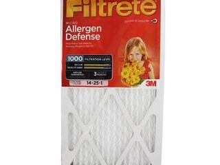 Filtrete Micro Allergen Reduction Filter  1000 MPR  14 Inch by 25 Inch by 1 Inch  4 Pack
