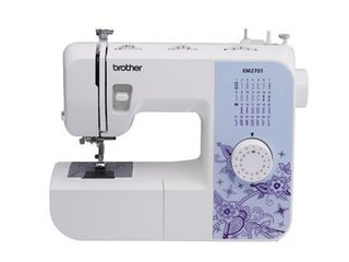 Brother XM2701 lightweight  Full Featured Sewing Machine with 27 Stitches  1 Step Auto Size Buttonholer  6 Sewing Feet  and Instructional DVD