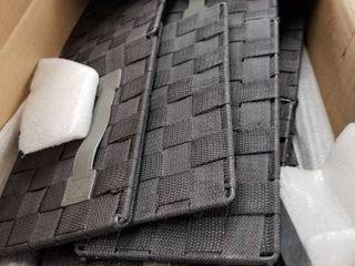 Sorbus 6 Weave Cabinet Drawer   Black