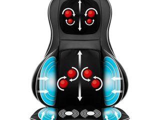 Air Compression Shiatsu Neck   Back Massager Seat w  Heat  Rolling Massage