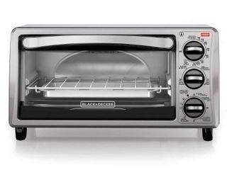 Black   Decker Black Toaster Oven   4 Slice