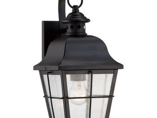 Quoizel MHE8406K Millhouse with Mystic Black Finish and Small Wall lantern  Black