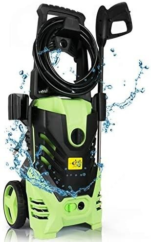 Premium 3000 PSI Electric Pressure Washer  1 8 GPM 1800W Power Washers Cleaner with 5 Adjustable Nozzles