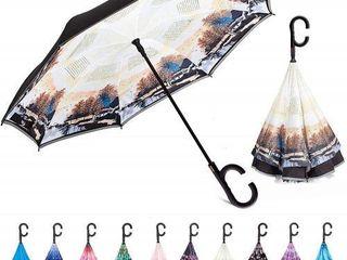 Hosa Double layer Inverted Umbrella Reverse Umbrella With C shaped Handle Win