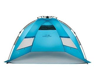 Pacific Breeze Easy Setup Beach Tent Deluxe Xl Xl With Extendable Floor