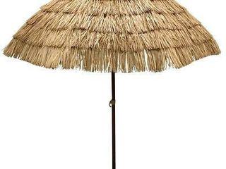 the Aoxun Store 225 6 5  Thatch Patio Tiki Umbrella   Tropical Palapa Raffia Tiki Hut Hawaiian Hula Beach Umbrella