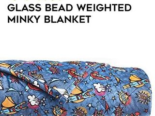 YnM Kids Weighted Blanket a Heavy 100  Oeko Tex Certified Minky Material with Premium Glass Beads  Super lightning  41 x60  7lbs  Suit for One Person 60lb  Use on Twin Bed