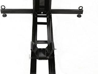 7BlACKSMITHS Adjustable Motorcycle Stand Wheel Chock Upright 1800lbs Capacit Heavy Duty Motorcycle Wheel Chock