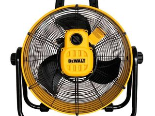 DEWAlT 20 in  3 Speed Heavy Duty Drum Fan with 6 ft  Power Cord  Yellow