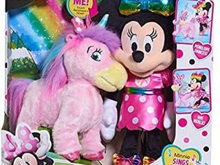 Minnie Mouse Disney Walk   Dance Unicorn Feature Plush  Multi Color  Ages