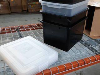 4 Pack Small Plastic Tub Storage Bins