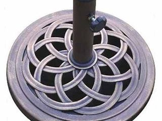 DC America UBP18181 BR 18 Inch Cast Stone Umbrella Base  Made from Rust Free Composite Materials  Bronze Powder Coated Finish