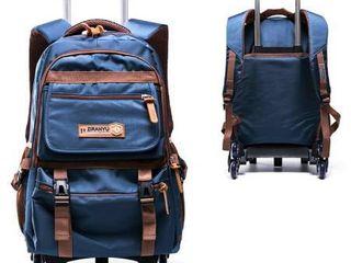 Ziranyu Namefox World Boue and Brown Roller Bag