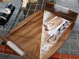 lipper International Reversible Acacia Serving Bed Tray