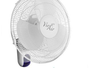 Vie Air 16 inch Plastic Wall Fan with Remote Control in White