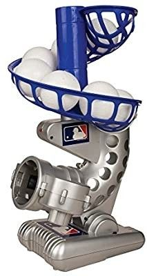 Franklin Sports MlB Electronic Baseball Pitching Machine a Height Adjustable a Ball Pitches Every 7 Seconds a Includes 6 Plastic Baseballs