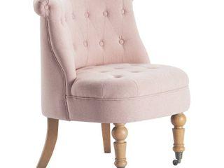 Elmhurst Tufted Accent Chair Blush Pink   Finch