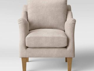 Onley Upholstered Accent Chair Beige   Threshold