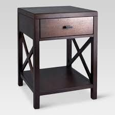 Owings Side Table With Drawer Espresso   Threshold  Brown