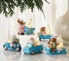 S 5 Illuminated Holiday Characters with Gift Bags by Valerie Classic