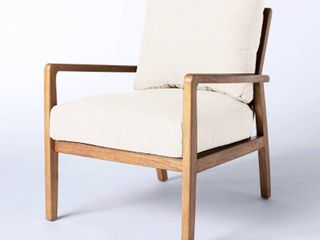 Mixed Material Accent Chair Cream   Threshold designed with Studio McGee