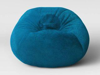 Fuzzy Bean Bag Chair Turquoise   Pillowfort