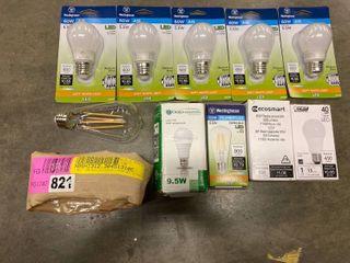 lot of 10 Various lightbulbs  60W  40W