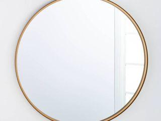 34  Round Decorative Wall Mirror Brass   Threshold designed with Studio McGee