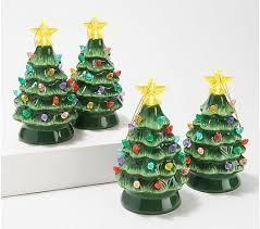 Mr  Christmas  Set of 4  6 Nostalgic Tree Ornaments with Gift Bags  Green