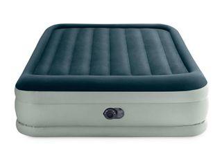 Intex Elevated 18  Premium Comfort Queen Air Mattress with Internal Pump