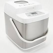 Cooks Essentials 1 5lb Stainless Steel Bread Maker White