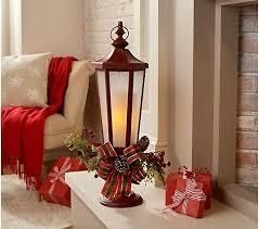 Illuminated   Embellished Flickering Flame lantern by Valerie Red