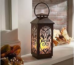 21 Metal Indoor Outdoor Flickering Flame lantern by Valerie Verdigris