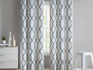 VCNY Home Caldwell Quatrefoil Printed Grommet Top Window Curtain Panel  Set of 2  Multiple Sizes Available