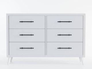 Emery 6 Drawer Dresser White   Brookside Bed