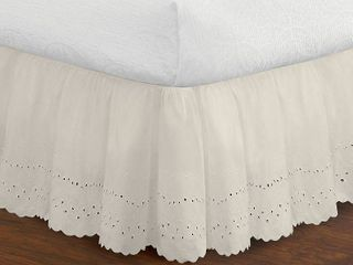Fresh Ideas Ruffles Eyelet Collection  bed skirts and shams sold separately