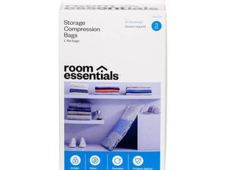 3 large Compression Bags Clear   Room Essentials