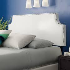Portis Upholstered Panel Headboard Size  Full  Upholstered White