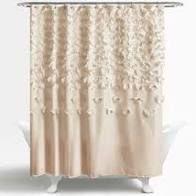 Rieke Single Shower Curtain Color  Ivory