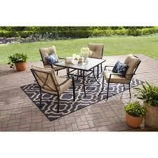 BOX 2 OF 2  Mainstays Forest Hills 5 Patio Dining Set Table  Beige