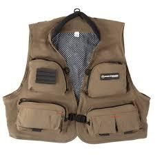 l Xl  12 Pocket Fishing Vest  lightweight Tackle Equipment Organizer Jacket with 3 D Rings by Wakeman Outdoors   Dark Beige