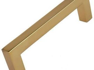 GlideRite 3 3 4 in  Center Gold Solid Square Bar Pulls  5 Pack    Brass Gold