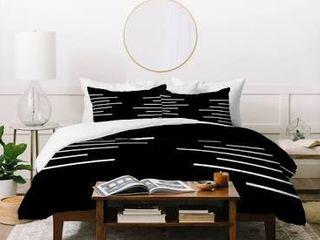 Deny Designs Geometric Stripes Duvet Cover Set  3 Piece Set  Retail 184 99