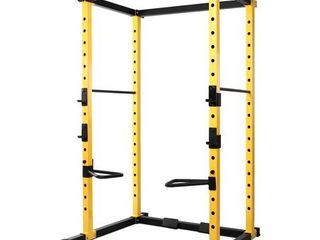 BalanceFrom 1000 Pound Capacity Multi Function Adjustable Power Cage with  Dip Bars  J Hooks and Other Optional Attachments