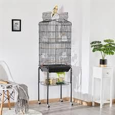 Yaheetech 64 in Rolling large Bird Cage  Black