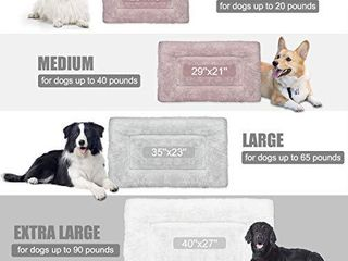 SIWA MARY Dog Bed Mat Soft Crate Pad Washable Anti Slip Mattress for large Medium Small Dogs and Cats Kennel Pad  42inch Grey