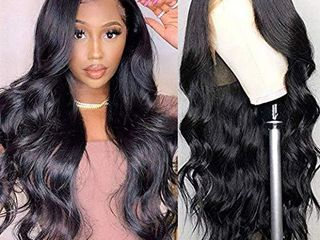 luduna lace Front Wigs Real Human Hair Pre Plucked Body Wave lace Front Wig with Baby Hair 9A 150  Density 100  Unprocessed Brazilian Remy Virgin Hair Wig Glueless 13x4 lace Front Wigs for Black Women 18inches  Natural Color