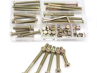 Baby Bed Crib Screws Hardware Replacement Kit  cSeao 25 Set M6x40mm  50mm  60mm  70mm  80mm Hex Drive Socket Cap Screws Barrel Nuts Assortment Kit for Beds Headboards Chairs Furniture